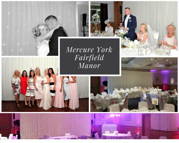 Mercure York fairfield Manor Wedding DJ Disco