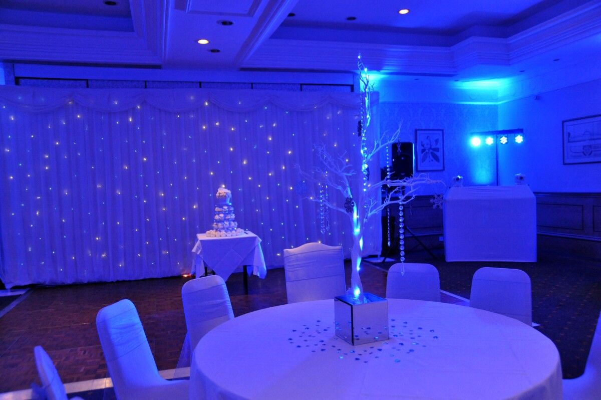 Table set up at wedding reception event