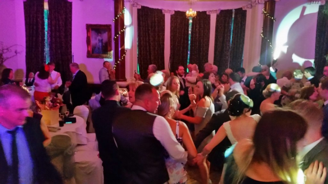 Beamish Hall Wedding Dancing with Uplighting